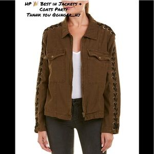 Free People Faye Military Jacket- Moss Color